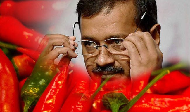 Arvind Kejriwal attacked with chilli powder