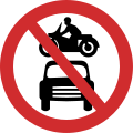 ALL MOTOR VEHICLES PROHIBITED