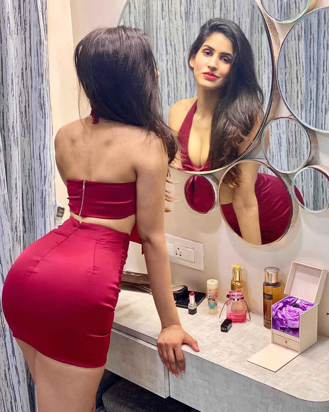 Sakshi Malik killing in a hot red dress