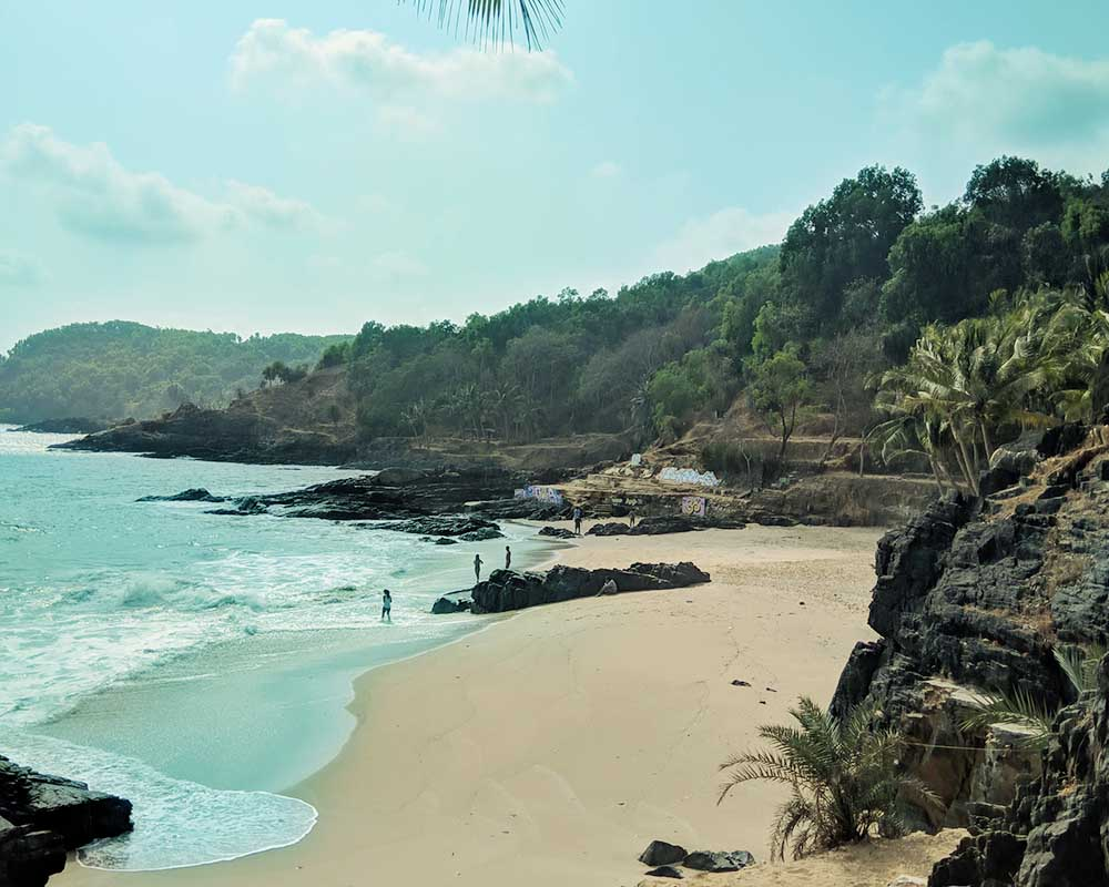 Om beach of Gokarna in Karnataka, India