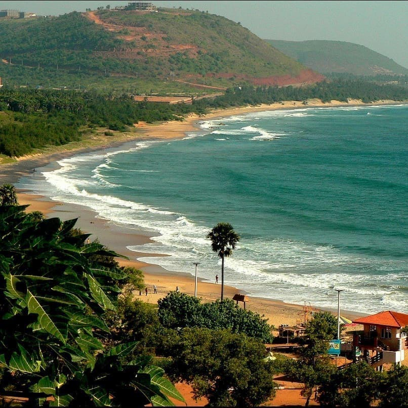 Rushikonda beach in Andhra Pradesh India