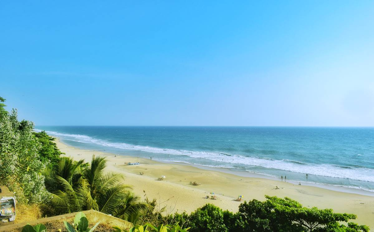 Varkala Beach in Kerala, India