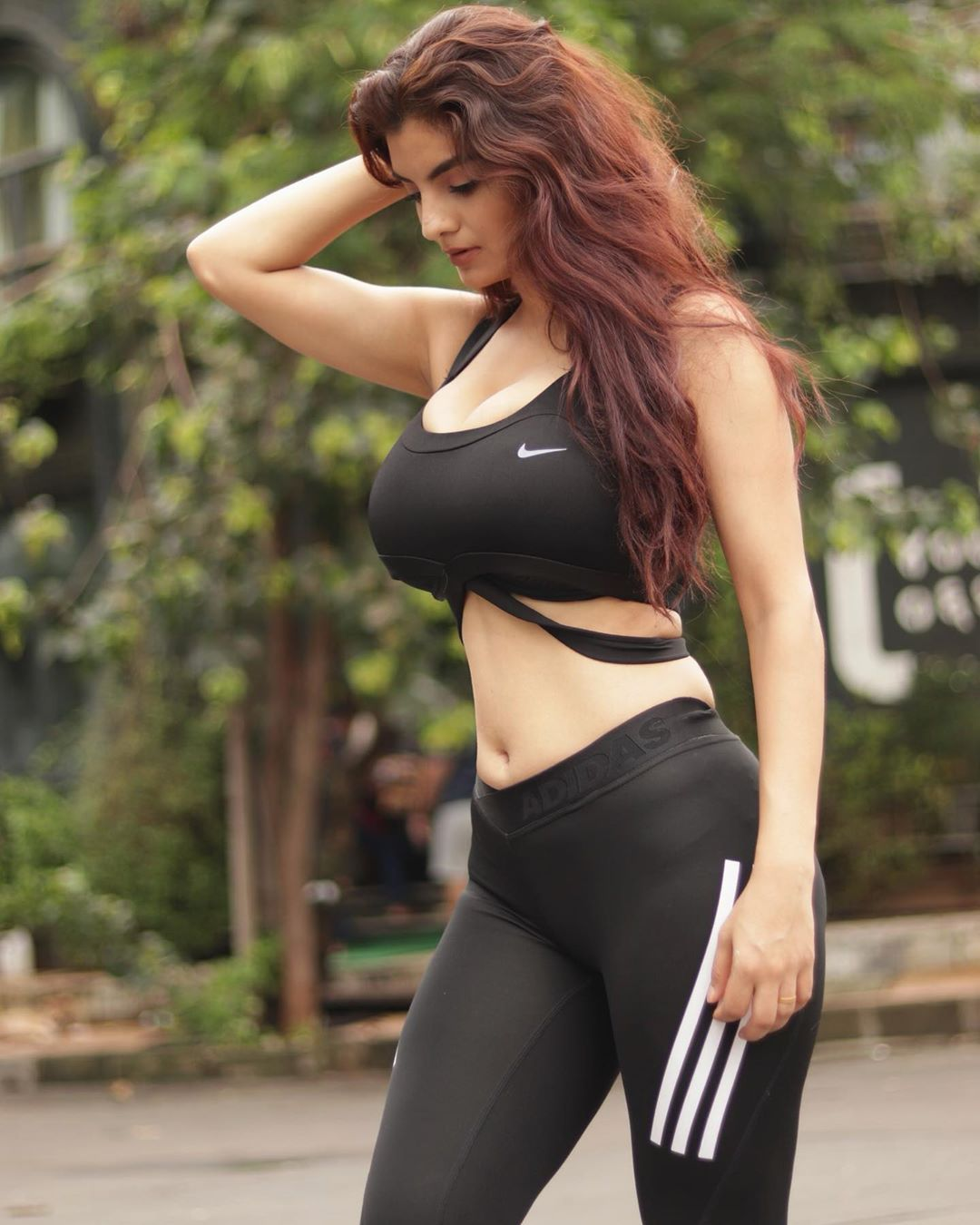 Anveshi  jain in a sports outfit