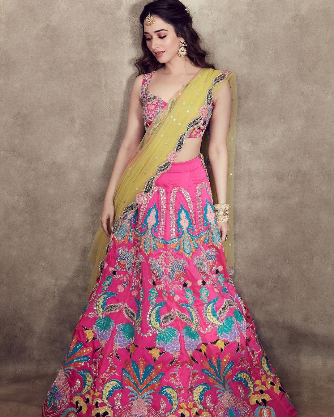Tamannaah Bhaita in Pink Lehenga