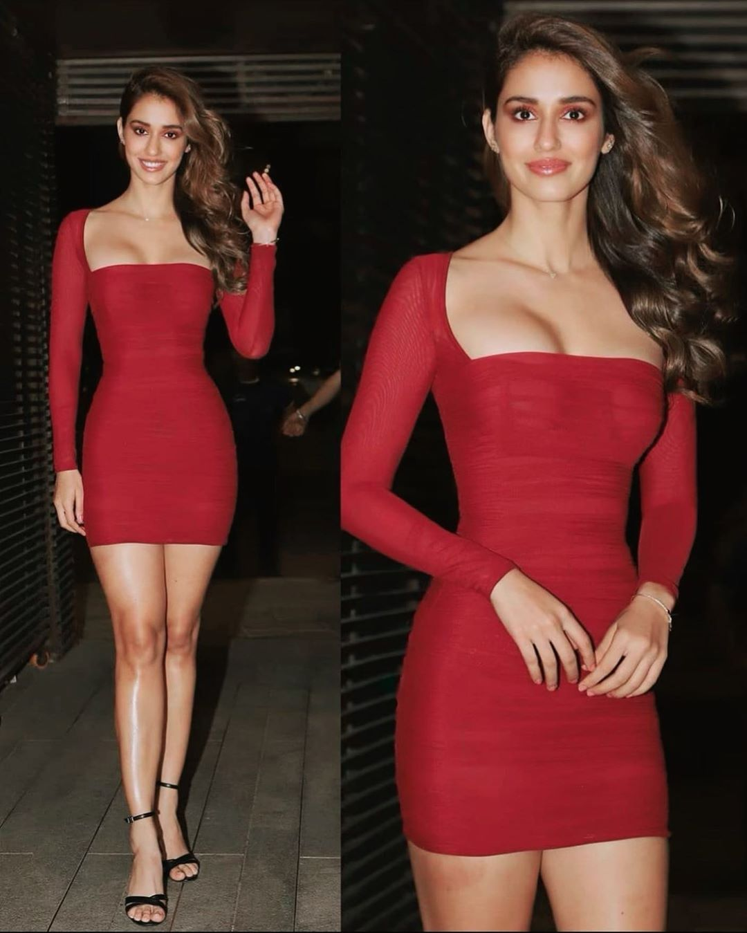 stunning Picture of Disha Patani in red dress
