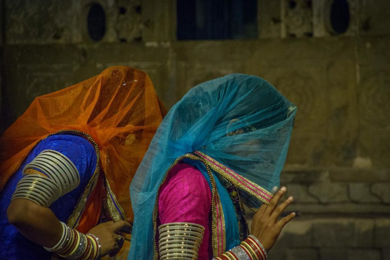 Traditional attire of Rajasthani women