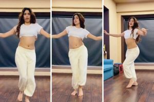 Jahnvi Kapoor Flaunts Her Post Lockdown Fitness Body In a Dance Video