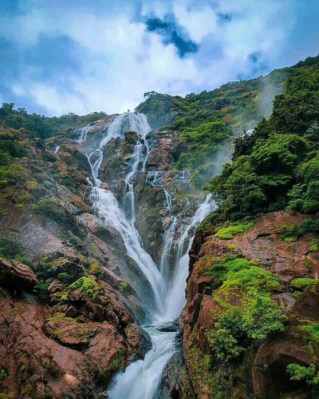 dudhsagar waterfall is the most beautiful tourist attraction of goa