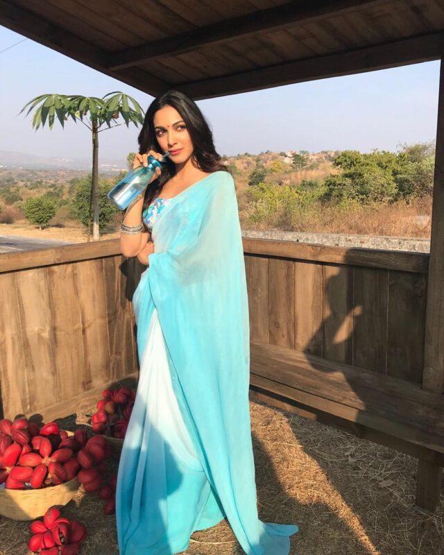 Kiara Advani hot saree look