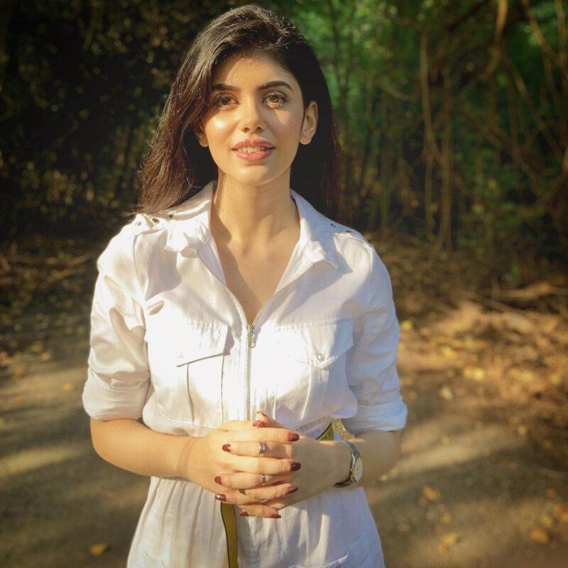 sanjana sanghiin in white paracute dress
