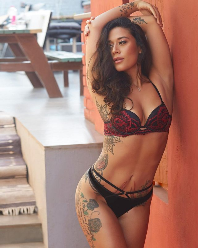 Krishna shroff looking extremely hot in red-black bikini pictures